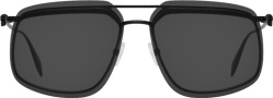 Alexander Mcqueen Black Skull Square Frame Sunglasses