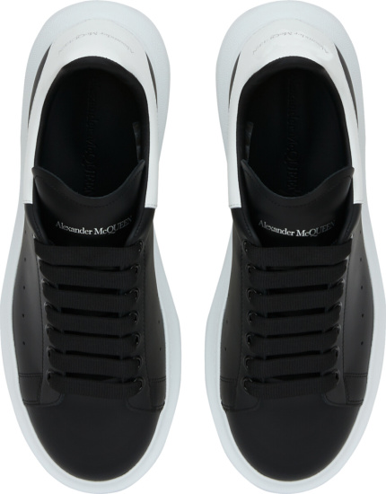Alexander Mcqueen Black White Oversized Sneakers