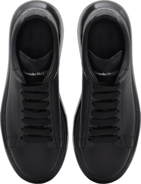 Alexander Mcqueen Clear Sole Black Oversized Sneakers