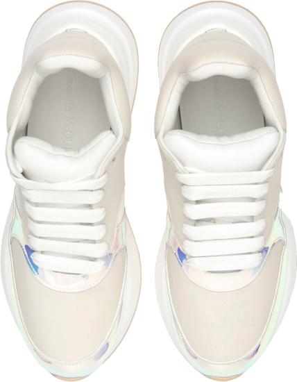 Alexander Mcqueen Metallic Beige Sneakers