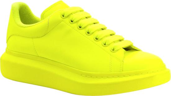 Alexander Mcqueen Neon Yellow Oversized Sneakers