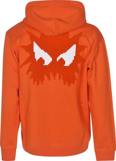 Alexander Mcqueen Orange Pac Man Hoodie