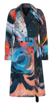 Alexander Mcqueen Painters Canvas Coat Worn By Rich The Kid