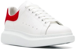 Alexander Mcqueen Red And White Sneakers