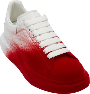 Alexander Mcqueen Red Gradient Sneakers
