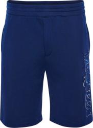 Alexander Mcqueen Royal Blue Vertical Logo Sweatshorts