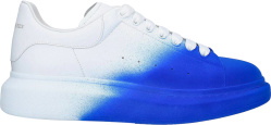 Alexander Mcqueen White And Blue Spray Paint Oversized Larry Sneakers