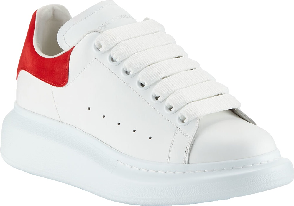 Alexander Mcqueen White And Red Sneakers