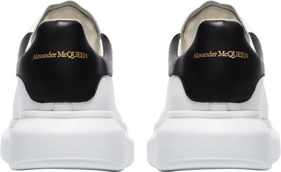 Alexander Mcqueen White Black Chunky Sneakers