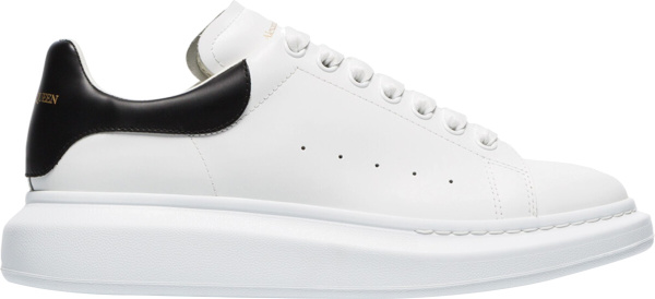 Alexander Mcqueen White Black Leather Oversized Sneakers