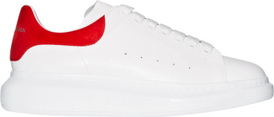 Alexander Mcqueen White Red Suede Oversized Sneakers