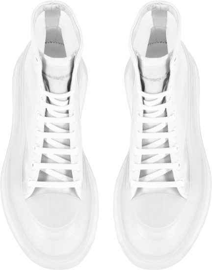 Alexander Mcqueen White Sheer Trad Slick Boots