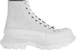 Alexander Mcqueen White Tread Slick Boots