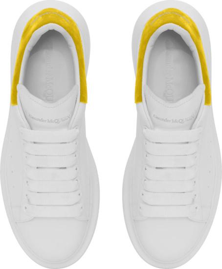 Alexander Mcqueen Yellow Suede Oversized Sneakers