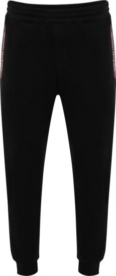 Alexander Mcuqeen Black Logo Tape Joggers