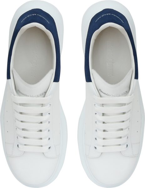 Alexander Mcuqeen Blue Suede White Leather Sneakers