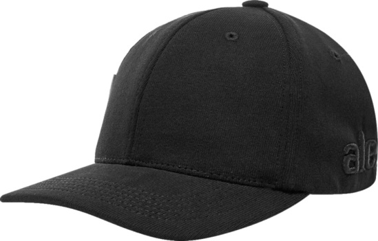 Alexander Wang Black Logo Embroidered Hat