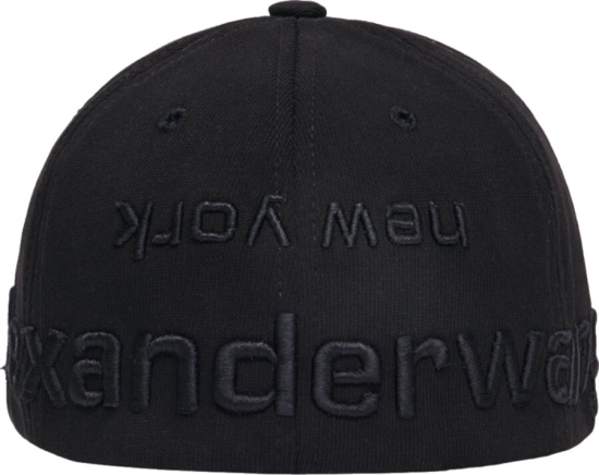 Alexander Wang Black Logo Fitted Hat