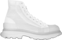 Alexaner Mcqueen Clear And White Tread Slick Boots
