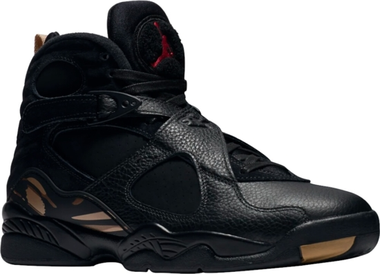 All Black Suede And Leather Jordan 8s