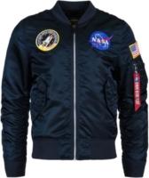 NASA Patch Navy Bomber Jacket