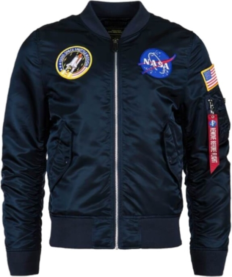 Alpha Industries Nasa Patch Navy Bomber Jacket