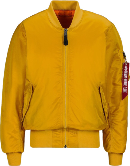 Alpha Industries Yellow M1 A Bomber Jacket