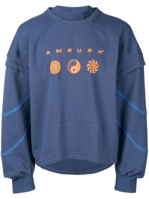 Ambush Layered Blue Sweatshirt