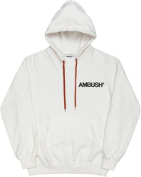 Ambush White Logo Print Hoodie