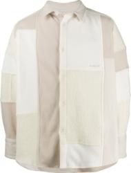 Ambush White Patchwork Fleece Jacket