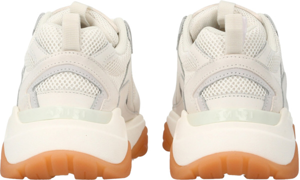 Amir White Ivory Sneakers With Skeleton Bone Patches