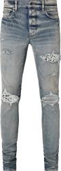 Amiri Clay Indigo Bones Underpatch Jeans