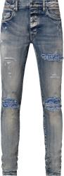 Amiri Clay Indigo And Blue Bandana Underpatch Mx1 Jeans
