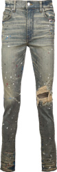 Amiri Dirty Indigo Paint Splatter Jeans
