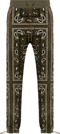 Amiri Green Bandana Fleece Sweatpants