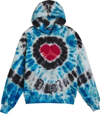 Amiri Heart Print Tie Dye Hoodie