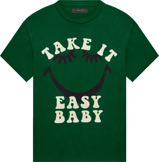 Amiri A Love Movement Green Take It Easy Baby T Shirt