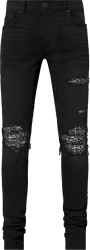Amiri Aged Black Bandana Mx1 Jeans