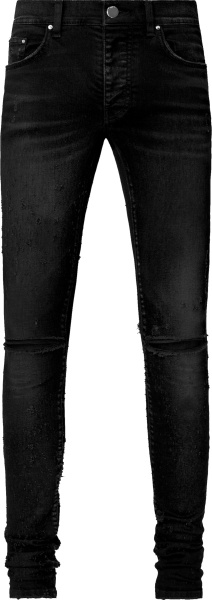 Amiri Aged Black Shotgun Jeans