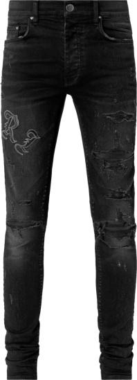 Amiri Antique Black Old English Jeans