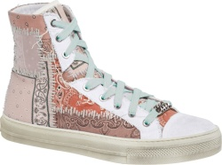 Pink Bandana Patchwork High-Top Sneakers