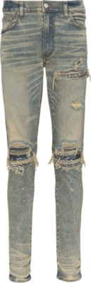 Amiri Bandana Underpatch Light Wash Jeans