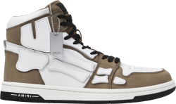 Amiri Beige High Top Sneakers With Skeleton