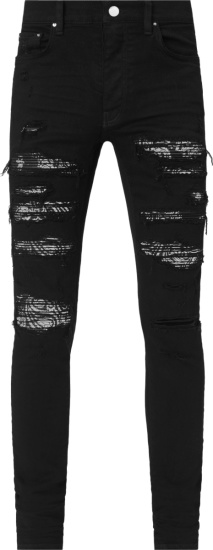 Amiri Black And Black Bandana Underpatch Thrasher Plus Jeans