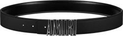Amiri Black And Black Enamel Logo Buckle Belt
