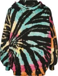 Amiri Black And Multicolor Tie Dye Hoodie