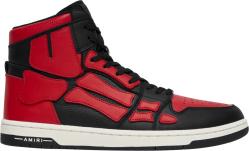 Amiri Black And Red High Top Skel Top Bones Sneakers