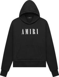 Amiri Black And White Core Logo Print Hoodie
