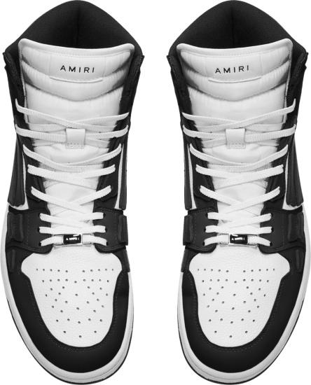 Amiri Black And White High Top Skeleton Bones Sneakers