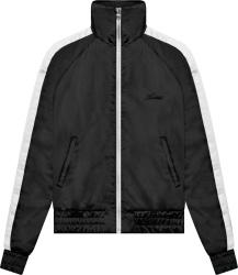 Amiri Black And White Stripe Satin Track Jacket